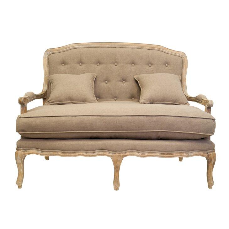 Двухместный диван Yareli brown | Прямые диваны Kingsby