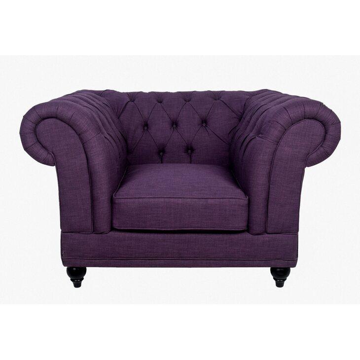 Кресло Dasen purple   Каминные кресла Kingsby