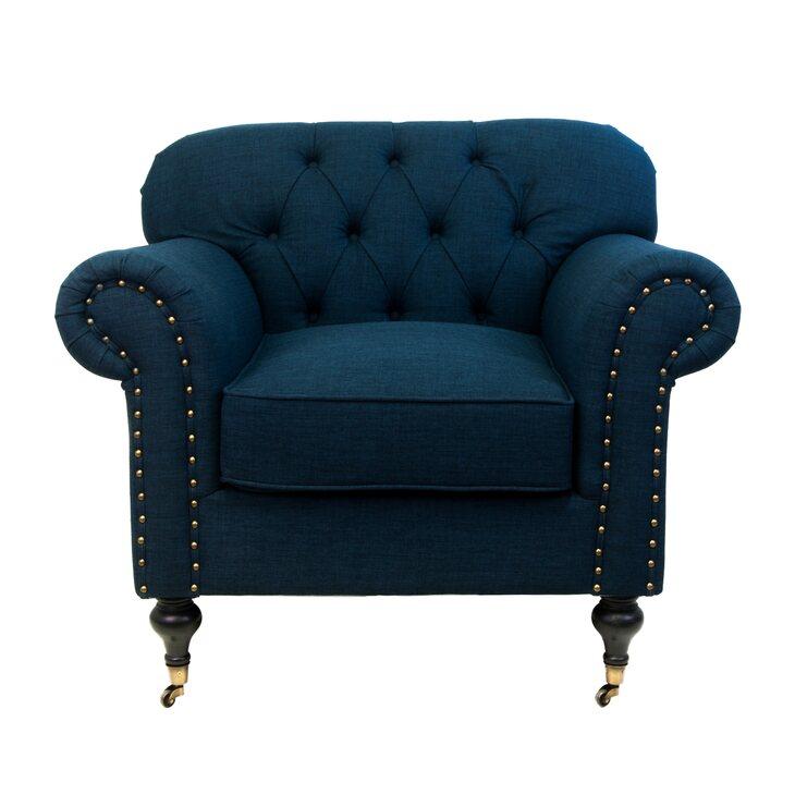 Кресло Kavita dark blue   Каминные кресла Kingsby