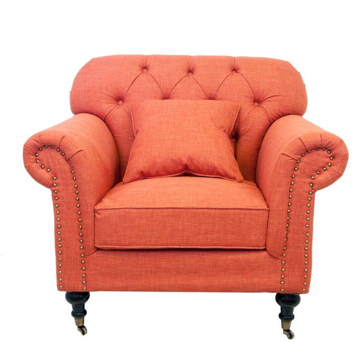 Кресло Kavita orange | Каминные кресла Kingsby