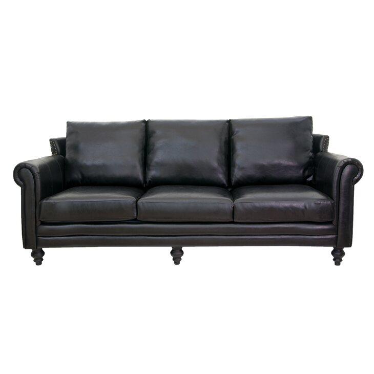 Кожаный диван Toren | Прямые диваны Kingsby