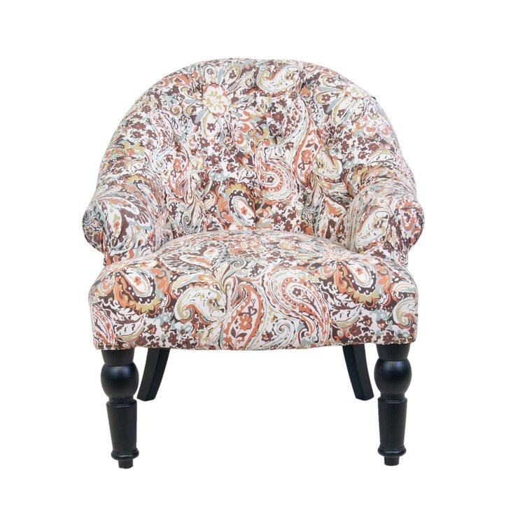 Кресло Desta orange flower | Маленькие кресла Kingsby