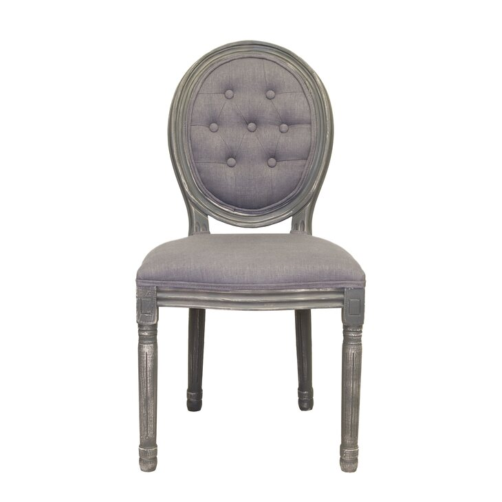 Стул Volker button grey | Обеденные стулья Kingsby