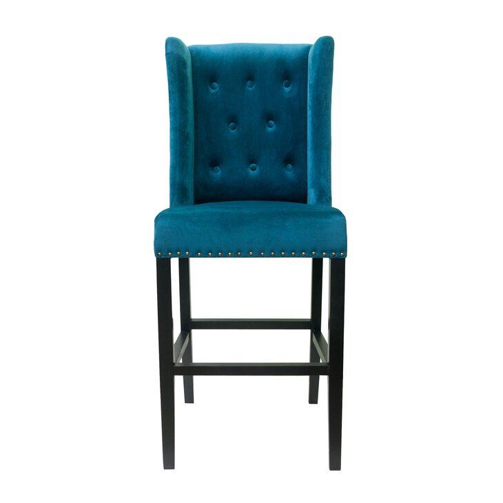 Стул Skipton blue velvet | Барные стулья Kingsby
