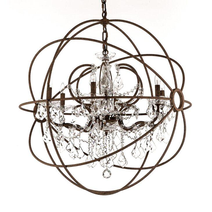 Подвесная люстра Foucault's Orb Crystal D75 | Подвесные люстры Kingsby