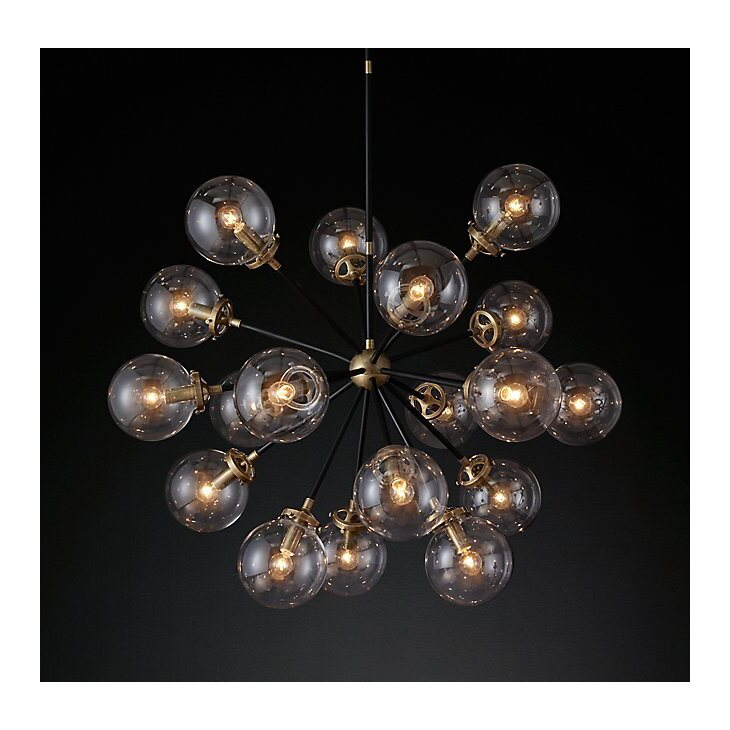 Подвесная люстра Bistro glob 18 | Подвесные люстры Kingsby