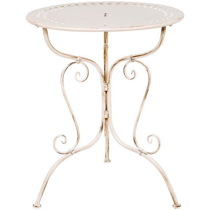 Столик для завтрака «Жарден» (белый антик) | Кофейные столики Kingsby