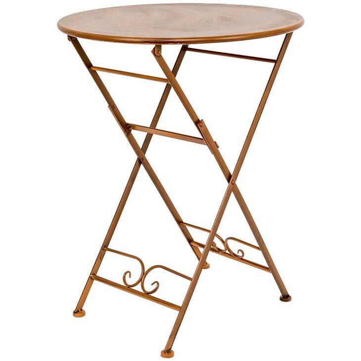Складной столик для завтрака «Жарден» (карамель) | Кофейные столики Kingsby