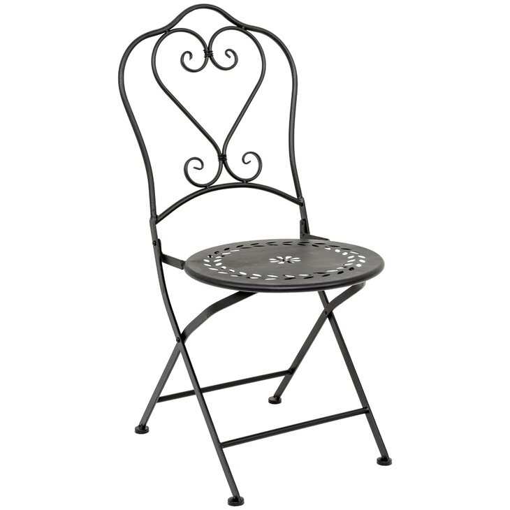 Складной стул «Жарден» (черный антик) | Обеденные стулья Kingsby