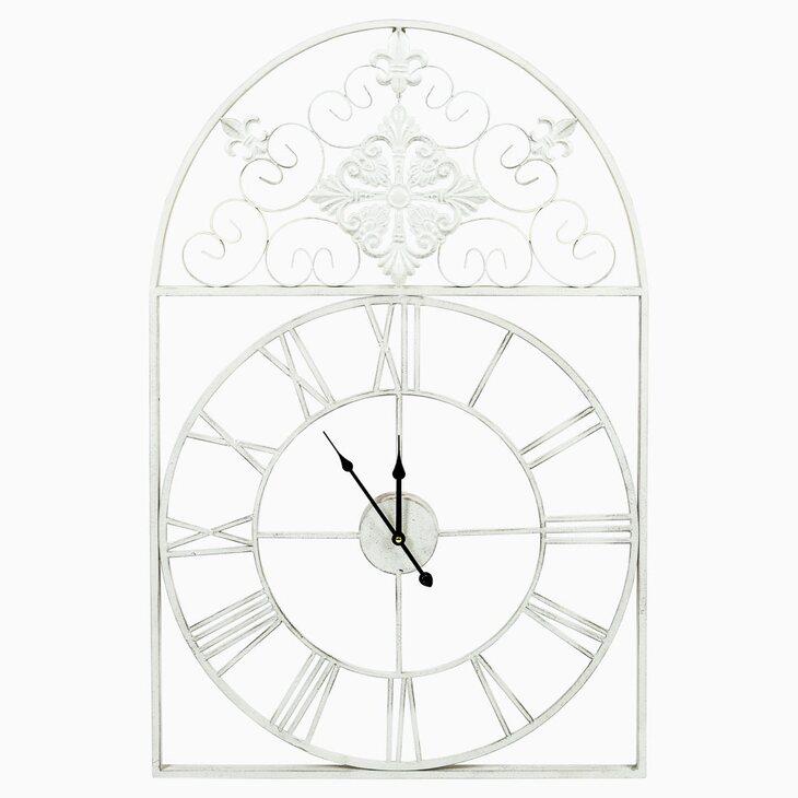 Часы «Кружево небес», белый антик | Настенные часы Kingsby