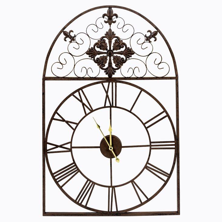 Часы «Кружево небес», шоколадный антик | Настенные часы Kingsby