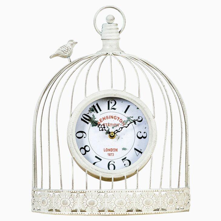 Часы «Волшебный сад», белый антик | Настенные часы Kingsby