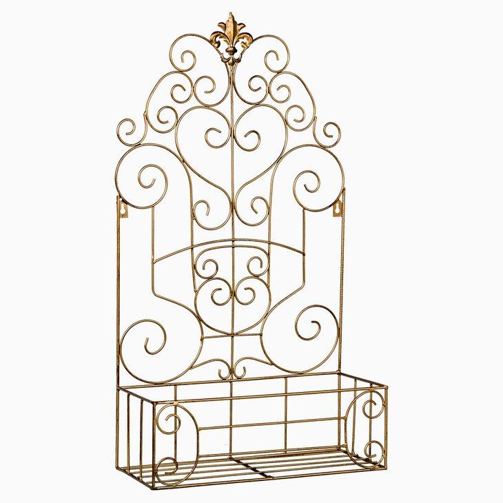 Полка-жардиньерка «Люксембургский сад» (бронзовый антик, версия ХL) | Полки Kingsby