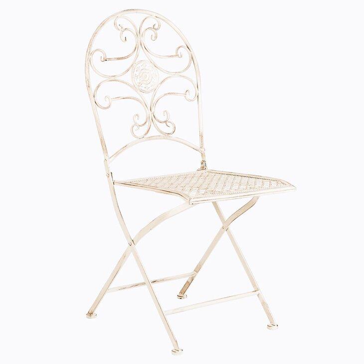 Складной стул «Берси» (белый антик) | Обеденные стулья Kingsby