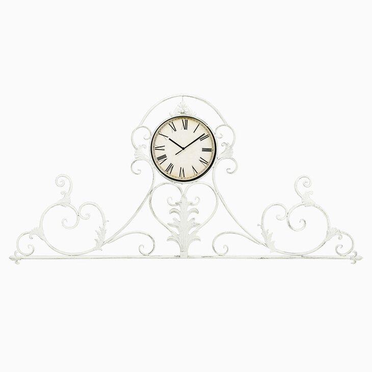 Настенные часы «Вуаль-Руж» (белый антик) | Настенные часы Kingsby